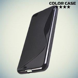 Силиконовый чехол для HTC One X9 - S-образный Черный
