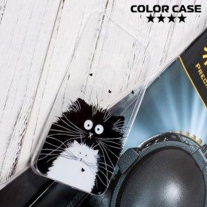 Силиконовый чехол для Huawei Honor 8 Lite - с рисунком Котики