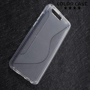 Силиконовый чехол для Huawei Honor 9 - S-образный Прозрачный