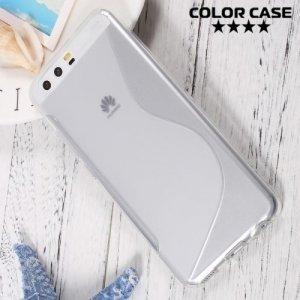 Силиконовый чехол для Huawei P10 - S-образный Прозрачный