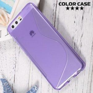 Силиконовый чехол для Huawei P10 - S-образный Фиолетовый