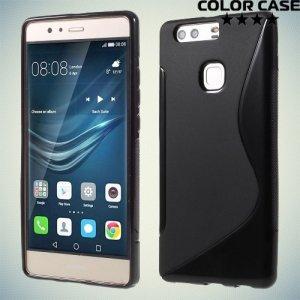Силиконовый чехол для Huawei P9 Plus - S-образный Черный
