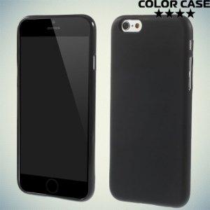 Силиконовый чехол для iPhone 6S / 6 - Матовый Черный