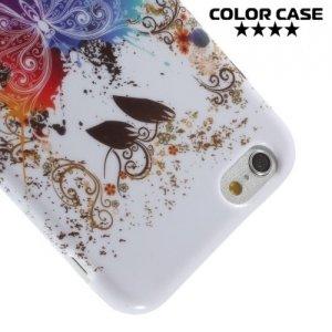 Силиконовый чехол для iPhone 6S / 6 - с рисунком Бабочка