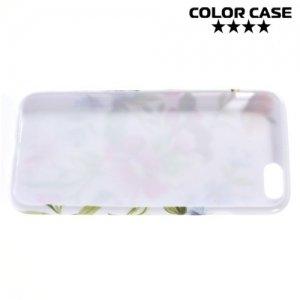 Силиконовый чехол для iPhone 6S / 6 - с рисунком Цветы