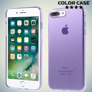 Силиконовый чехол для iPhone 8 Plus / 7 Plus - Глянцевый Фиолетовый