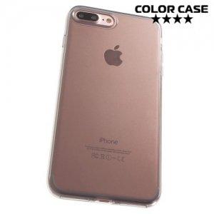 Силиконовый чехол для iPhone 8 Plus / 7 Plus - Глянцевый Серый