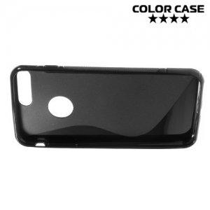 Силиконовый чехол для iPhone 8 Plus / 7 Plus - S-образный Черный