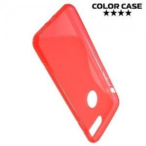 Силиконовый чехол для iPhone 8 Plus / 7 Plus - S-образный Красный