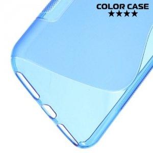 Силиконовый чехол для iPhone 8 Plus / 7 Plus - S-образный Голубой