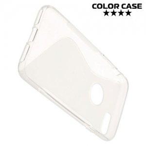 Силиконовый чехол для iPhone 8/7 - S-образный Прозрачный