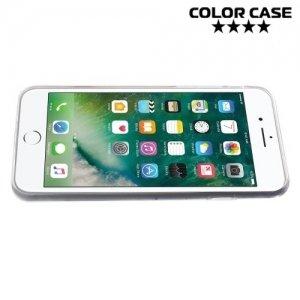 Силиконовый чехол для iPhone 8/7 - с рисунком Пионы