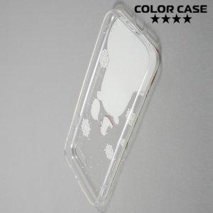 Силиконовый прозрачный чехол для iPhone 8/7 - с рисунком Мишка