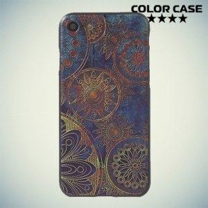 Силиконовый чехол объемный для iPhone 8/7 - с рисунком Ретро цветы