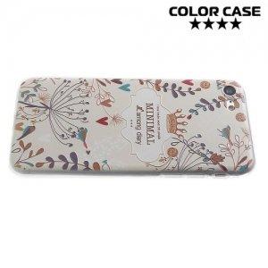 Силиконовый чехол для iPhone 8/7 - с рисунком Цветы