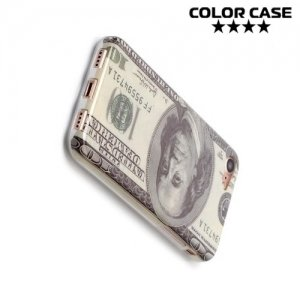 Силиконовый чехол для iPhone 8/7 - с рисунком Доллар