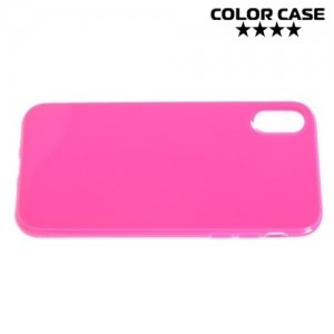 Силиконовый чехол для iPhone 8 - Глянцевый Ярко розовый