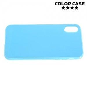 Силиконовый чехол для iPhone 8 - Глянцевый Голубой