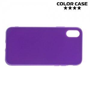 Силиконовый чехол для iPhone 8 - Глянцевый Фиолетовый