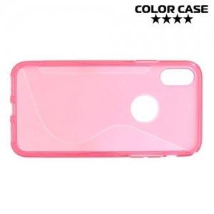 Силиконовый чехол для iPhone Xs / X - S-образный Розовый