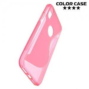 Силиконовый чехол для iPhone 8 - S-образный Розовый