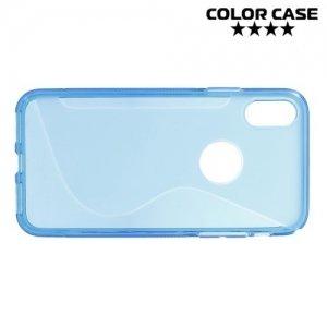 Силиконовый чехол для iPhone 8 - S-образный Синий