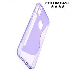 Силиконовый чехол для iPhone 8 - S-образный Фиолетовый
