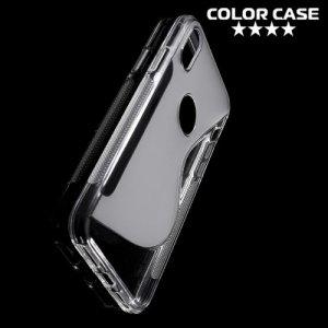 Силиконовый чехол для iPhone Xs / X - S-образный Прозрачный