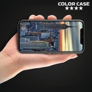 Силиконовый чехол для iPhone X противоударный - Черный