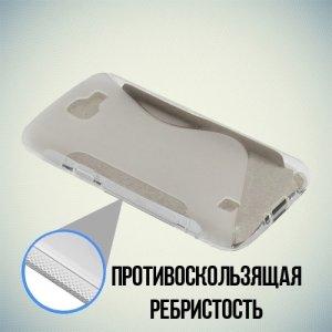 Силиконовый чехол для LG K4 K130E - S-образный Прозрачный