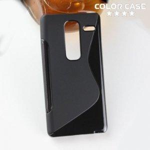 Силиконовый чехол для LG Class H650E - S-образный Черный