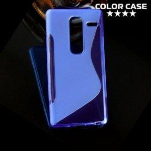 Силиконовый чехол для LG Class H650E - S-образный Синий