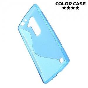 Силиконовый чехол для LG G4c H522y - S-образный Синий