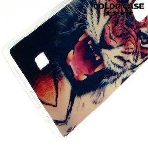 Силиконовый чехол для LG G4c H522Y - с рисунком Тигр