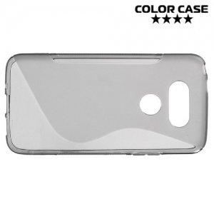 Силиконовый чехол для LG G5 - S-образный Серый
