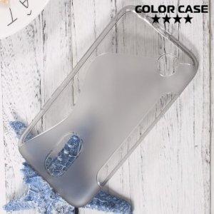 Силиконовый чехол для LG K10 2017 M250 - S-образный Серый