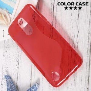 Силиконовый чехол для LG K10 2017 M250 - S-образный Красный