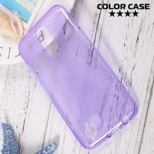 Силиконовый чехол для LG K10 2017 M250 - S-образный Фиолетовый