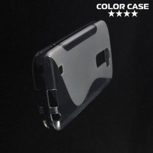 Силиконовый чехол для LG K10 K410 - S-образный Красный