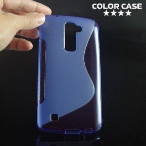 Силиконовый чехол для LG K10 K410 - S-образный Синий