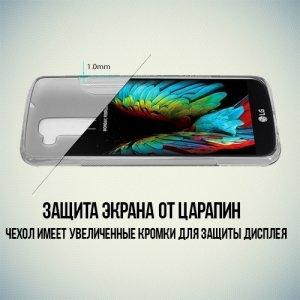 Силиконовый чехол для LG K10 K410 - S-образный Серый