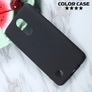 Силиконовый чехол для LG K4 (2017) X230 - Матовый Черный