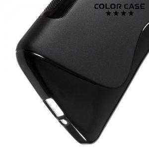 Силиконовый чехол для LG K5 X220ds - S-образный Черный