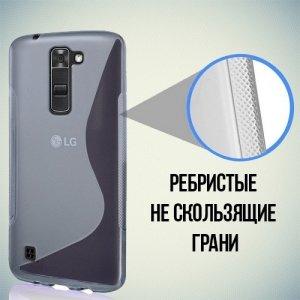 Силиконовый чехол для LG K7 X210ds - S-образный Прозрачный