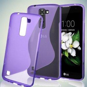 Силиконовый чехол для LG K7 X210ds - S-образный Фиолетовый