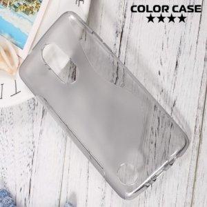 Силиконовый чехол для LG K8 2017 X300 - S-образный Серый