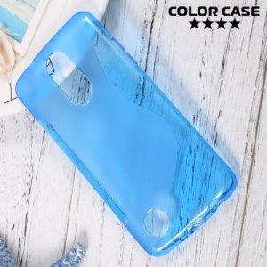 Силиконовый чехол для LG K8 2017 X300 - S-образный Синий