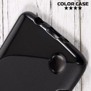 Силиконовый чехол для LG K8 2017 X300 - S-образный Черный