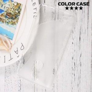 Силиконовый чехол для LG K8 2017 X300 - S-образный Прозрачный