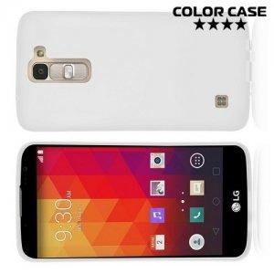 Силиконовый чехол для LG K8 K350E - Матовый Белый